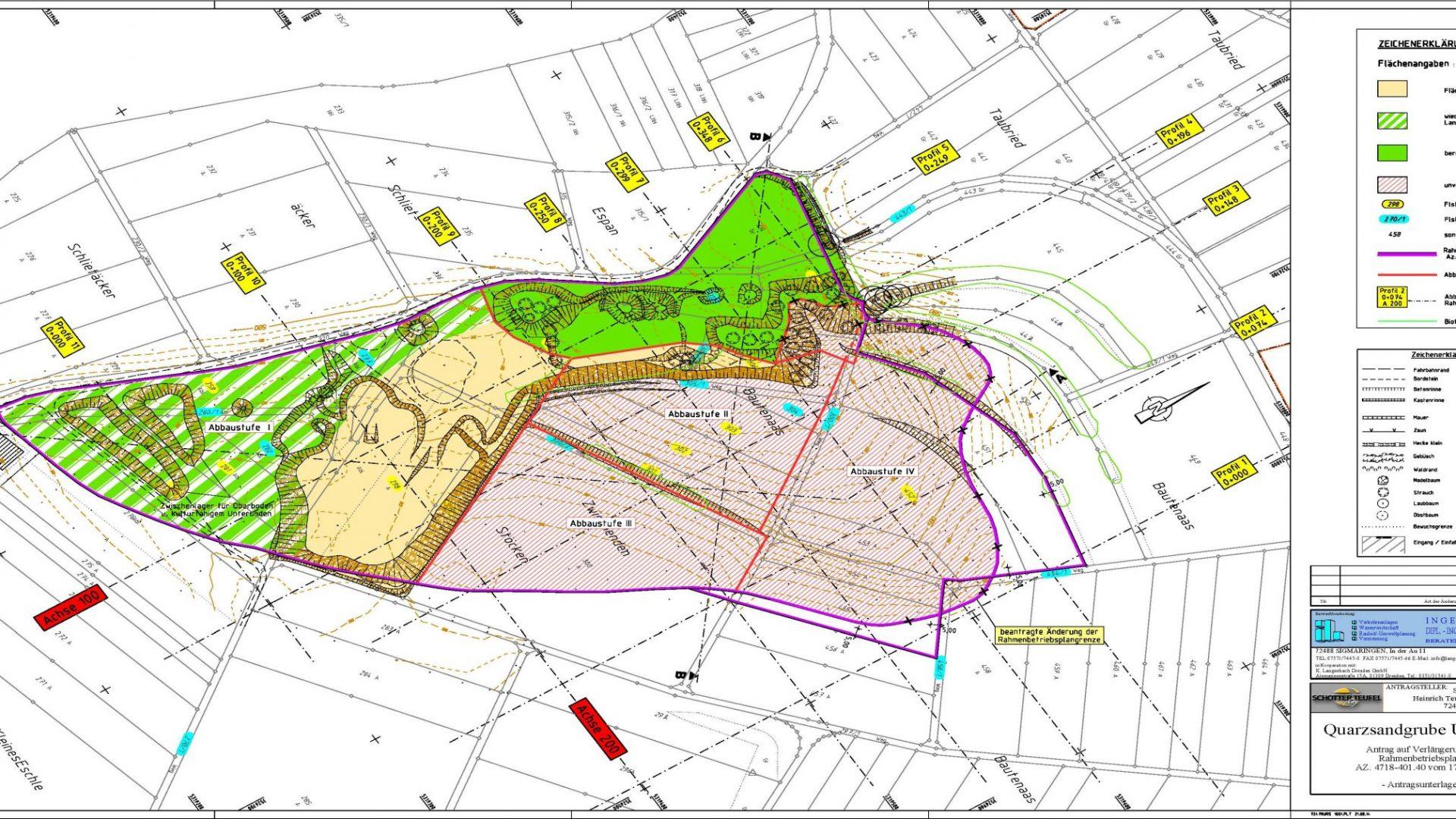 Quarzsandgrube Ursendorf <br><h4>(Antrag auf Verlängerung des Rahmenbetriebsplans)</h4>